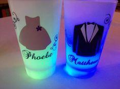 Flower girl gift, junior bridesmaid or ring bearer, LED light up tumbler, Personalized dress and tux glasses. $12.00, via Etsy.