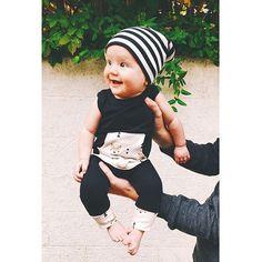 Hipster, baby, beanie, onesie, baby boy, candid, baby boy clothes #babyclothesonesies