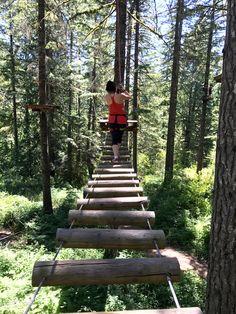ziplining through th