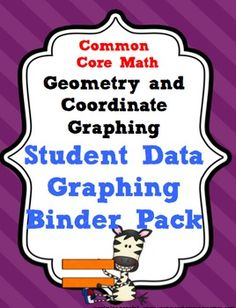 *5th Grade Common Core Math Geometry and Coordinate Graphing Student Data Tracking and Graphing Binder Pack