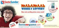 Tell us whether you would like to participate in #MalamaalWeekly Lottery.  http://www.foreseegame.com/User/GamePlay.aspx?GameID=Y8UIeHE7CGnlzD%2fo0GDkTA%3d%3d