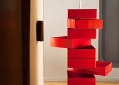 cool storage tower...diy with a bunch of drawers/boxes?? (The Blogazine - Konstantin Grcic - Unité d'Habitation)