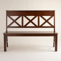 Mahogany Verona Bench With Back At World Market Seats Up To 4 People hyeriders