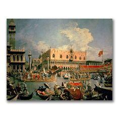 """Trademark Fine Art 24x32 inches Canatello """"Return of the Bucintoro"""""""