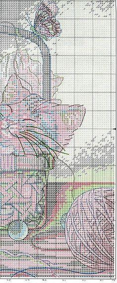 Napping Kittens - 4/4 Solo Patrones Punto Cruz | Aprender manualidades es facilisimo.com