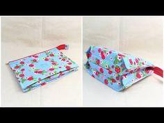 ペタンコポーチ簡単作り方 折マチ付き3ポケットポーチ How to make a pouch with three pockets ファスナーポーチ作り方 - YouTube With, Pouches, Floral Tie, Purses And Bags, Couture, Sewing, Accessories, Dressmaking, Stitching