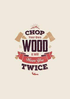 """CHOP YOUR OWN WOOD"" Greeting Cards & Postcards by snevi 