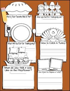 These writing activities are perfect for the week leading up to and the week of Thanksgiving! Students will love the combination of writing and coloring to bring their writing prompts to life! Thanksgiving Writing, Thanksgiving Preschool, Thanksgiving Projects, Thanksgiving Quotes, Thanksgiving Appetizers, Thanksgiving Outfit, Thanksgiving Decorations, Thanksgiving Recipes, Writing Lessons