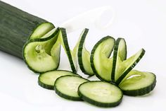 #cucumber #food #fresh #green #healthy #slices #spiral #vegetable