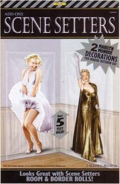 Hollywood Marilyn Monroe Scene Setter Cutouts,- Party Junction offers a huge range of Discount party supplies and Party Balloons with thousands of theme party supplies, birthday party supplies, tableware, decorations, costumes and accessories.