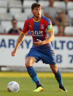 Joel Ward Photos - Joel Ward of Crystal Palace runs with the ball during the pre-season friendly match between Stevenage and Crystal Palace at The Lamex Stadium on July 2018 in Stevenage, England. Joel Ward, Crystal Palace Fc, Stevenage, July 24, Squad, England, Football, Seasons, Running