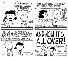 #peanutsspecials #ps #pnts #schulz #charliebrown #lucy #three #months #counted #christmas #hours #christmaseve #minutes #seconds #now #over
