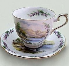Road to the Isles    Introduced:    Description:     Cup Shape: Countess, Hampton    Plate Shape: Hampton     Series of Six, Bonnie Banks O' Loch Lomon, John Peel, Land of Hope and Glory, Londonderry Air, Men of Harlech, and Road to the Isles