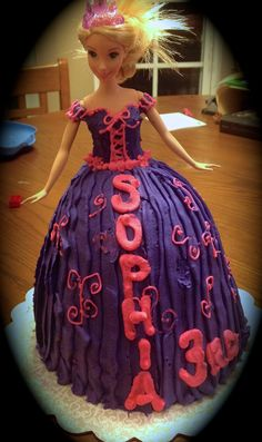 Princess Cake...Not my best work but my daughter loved it!