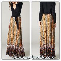 Long Multi Classic Maxi Dress Shannasthreads.com