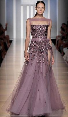 """Tony Ward Haute Couture Fall Winter 2013 i'd cut off the fabric above the breast, the light Purple. Then just have the """"tube top"""" and Down. Beautiful Gowns, Beautiful Outfits, Couture Fashion, Runway Fashion, Party Fashion, Men's Fashion, Evening Dresses, Formal Dresses, Dresses 2016"""
