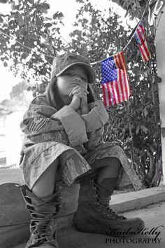 Kids military photography