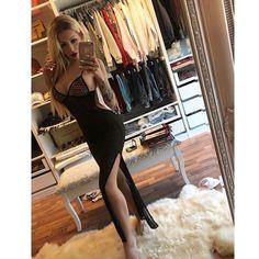 Katrin Vogelova aka Katja Krasavice Tight Dresses, Tights, Bodycon Dress, Hot, Sexy, Instagram, Fashion, Long Hair, Luxury