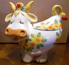 Vintage Lefton Bossy Cow Cookie Jar
