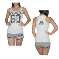 Pink Victoria's Secret Womens NFL New York Jets #60 Sports Tank Top and Shorts Set - White & Grey Victoria's Secret. $29.99