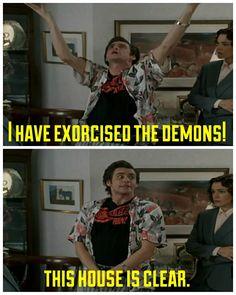 Ace Ventura: Pet Detective Jim Carey Funny, Ace Ventura Memes, Ace Ventura Pet Detective, Best Classic Movies, Favorite Movie Quotes, E Mc2, Movie Lines, Jim Carrey, Funny Movies