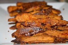 Almond Butter Coated Sweet Potato Fries #paleo #recipe
