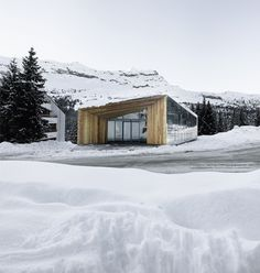 Paris studio R-architecture has added a visitors' centre with mirrored walls to a French ski resort