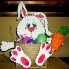 brown bag bunny basket