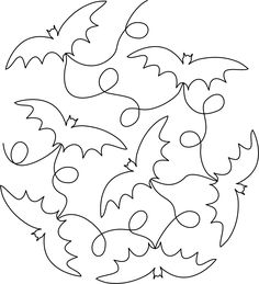 Continuous Line Halloween #embroidery collection of 35 #