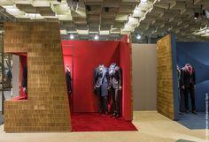 kiton, sceglie, milano, nuovo, showroom, jessica zannori, design, allestimenti, cartone, a4a design