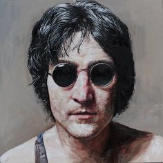Usual Suspect Portrait of John Lennon Seo, Sang Ik 2010 For those of you who know who is in the portrait, this painting can represent many things such as the politics of the time, the time of history, the genre of music, etc.  It brings a lot of different memories to a lot of people.