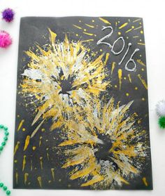 Create a fun and colorful craft this New Year's Eve by helping the children create firework art!