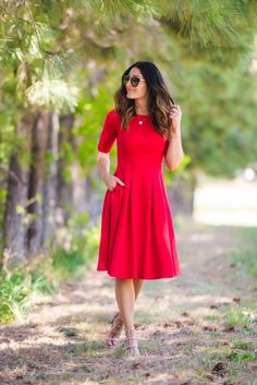 Brigitte Swing Dress | SexyModest Boutique #wedding #bridesmaid #ldswedding #modestdress #weddingideas #weddingcolors #bride #utah #modest #marriage #weddingdecor #weddingrings #modestdresses