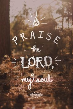 Praise the Lord, my soul;   all my inmost being, praise his holy name.  (Psalm 103:1, NIV)