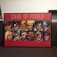 Street Fighter 2 player select screen with bosses by caveofpixels on DeviantArt Street Fighter Characters, Street Fighter 2, Pixel Art, Video Game Crafts, Pixel Beads, Art Perle, Art Base, Perler Patterns, Pearler Beads