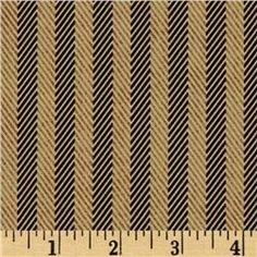 Moda Little Black Dress Etiquette Stripe Tan/Black