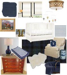 Baby Boy Nursery - Navy Blue, Benjamin Moore Old Navy