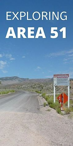Nevada's Area 51 along the Extraterrestrial Highway is conspiracy theory central and a perfect alien hunting day trip from Las Vegas. Travel Guides, Travel Tips, Travel Destinations, Nevada Area 51, Travel Around The World, Around The Worlds, Fun Places To Go, Us Road Trip, United States Travel