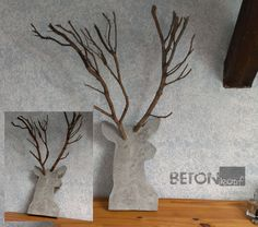 medusa betonskulptur holz haselnussholz knetbeton. Black Bedroom Furniture Sets. Home Design Ideas
