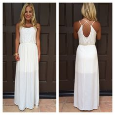 Oleander Lace And Gauze Maxi Dress in Ivory -Dainty Hooligan