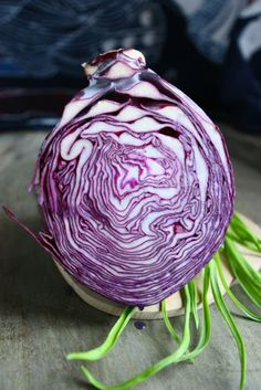 Shredded Red Cabbage (and Carrot Salad)