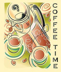 La hora del café. Coffee Time.