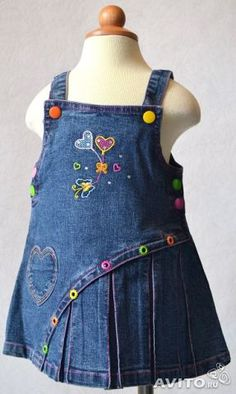 детский сарафан из старых джинсов выкройка: 25 тыс изображений найдено в Яндекс.Картинках Girl Doll Clothes, Sewing Clothes, Toddler Outfits, Boy Outfits, Little Girl Dresses, Girls Dresses, Baby Kind, Baby Sewing, Kids Wear
