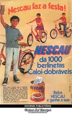 NESCAU DÁ 1000 BERLINETAS CALOI-DOBRÁVEIS!    Nescau, 1969.