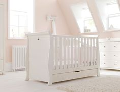 Nostalgia 3 Piece Nursery Furniture Set With Sleigh Cot Bed Silver Cross Uk