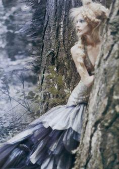 Sasha Pivovarova in 'Couture Memoirs' by Paolo Roversi for Vogue Italia 2008