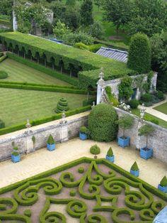 Gardens of Chateau de Brecy in Normandy. Via carolyneroehm. Topiary Garden, Garden Art, Garden Design, Garden Ideas, Formal Gardens, Outdoor Gardens, Parks, Home And Garden Store, My Secret Garden