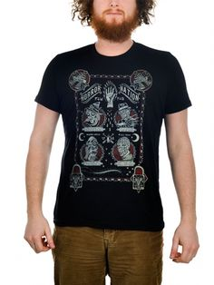 """Men's """"Horror Nation"""" Tee by Too Fast (Black) #inkedshop #horror #horrornation #graphictee #fashion"""