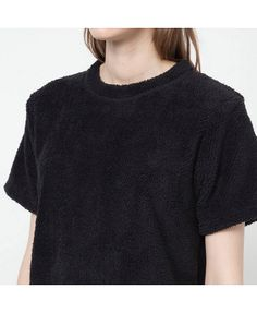Fluffy Fleece Crew Neck T-Shirt