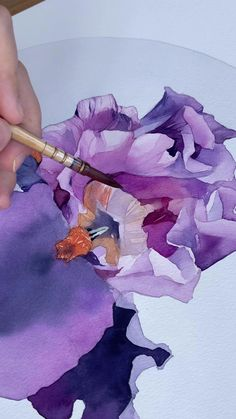 Using Polina Bright Vegan brush size 0 ( available in my store ) Paper - Moulin du roy 300 gsm Watercolor Art Lessons, Watercolor Sketch, Watercolor Techniques, Watercolor Flowers, Watercolor Paintings, Art Drawings Beautiful, Art Drawings Sketches Simple, Painting Activities, Time Painting
